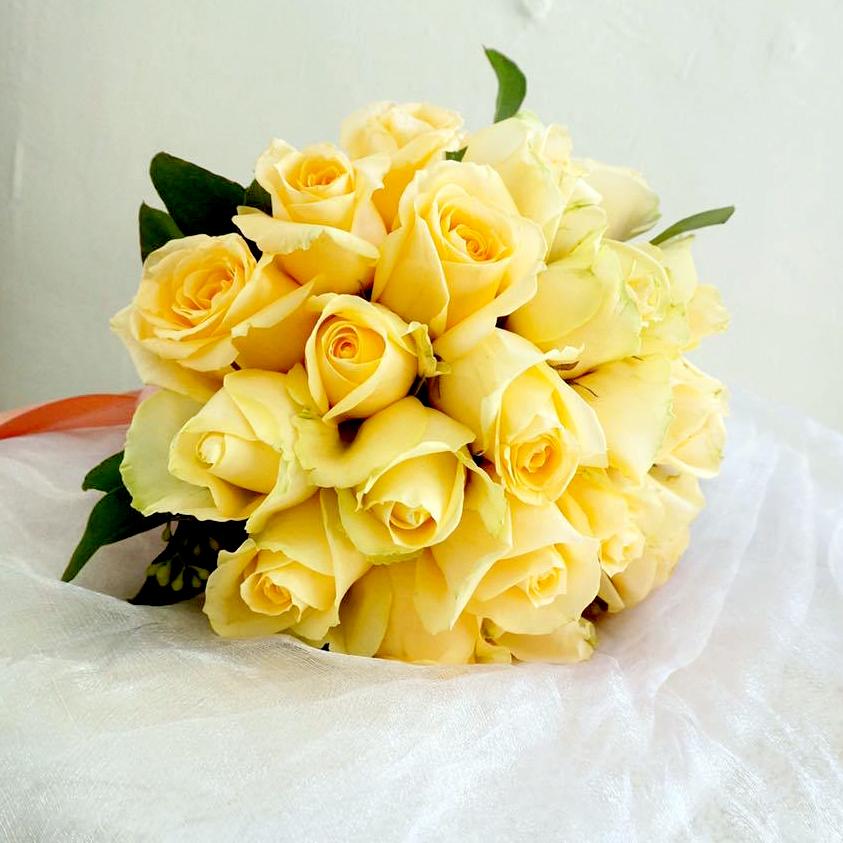Bridal Bouquet - Champagne Roses
