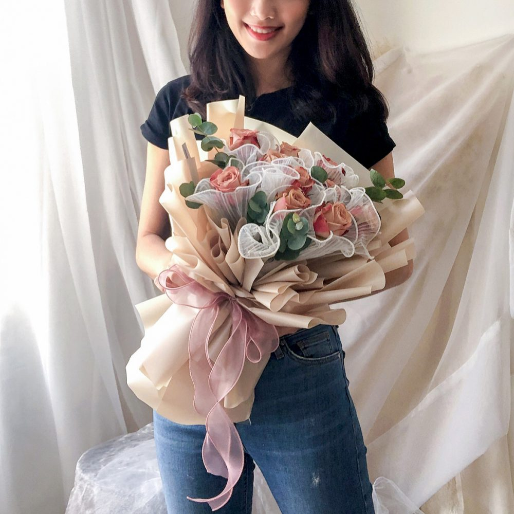 Cappuccino Roses Bouquet