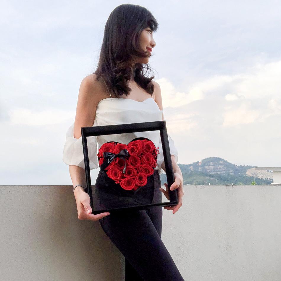 Preserved Roses Art Frame