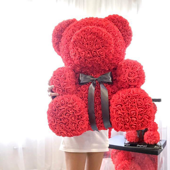 Red Flower Bear - L size