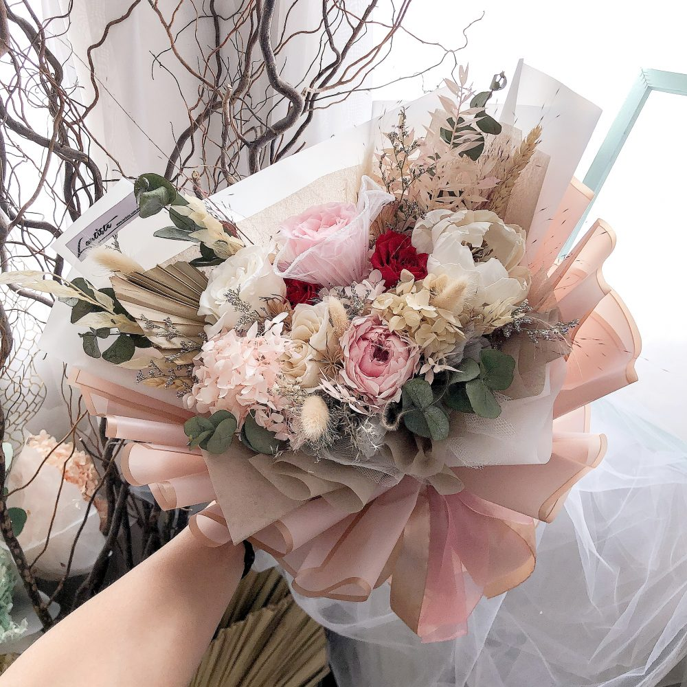 Premium Mix Preserved Flowers Bouquet