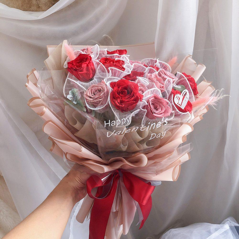 Premium Preserved Rose Bouquet - 20 stalks