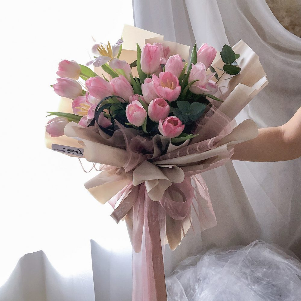 Pink Tulips Bouquet - 20 stalks