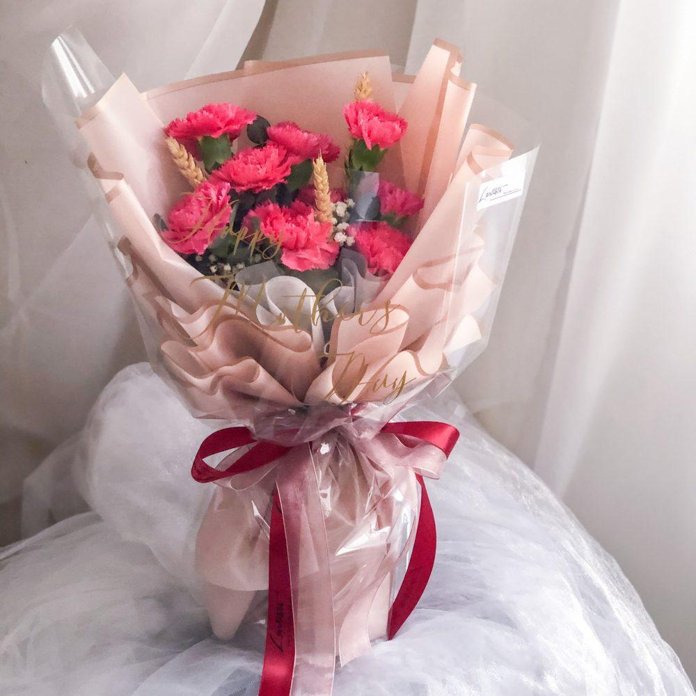 Cherry Pink Carnation - 9 Stalks