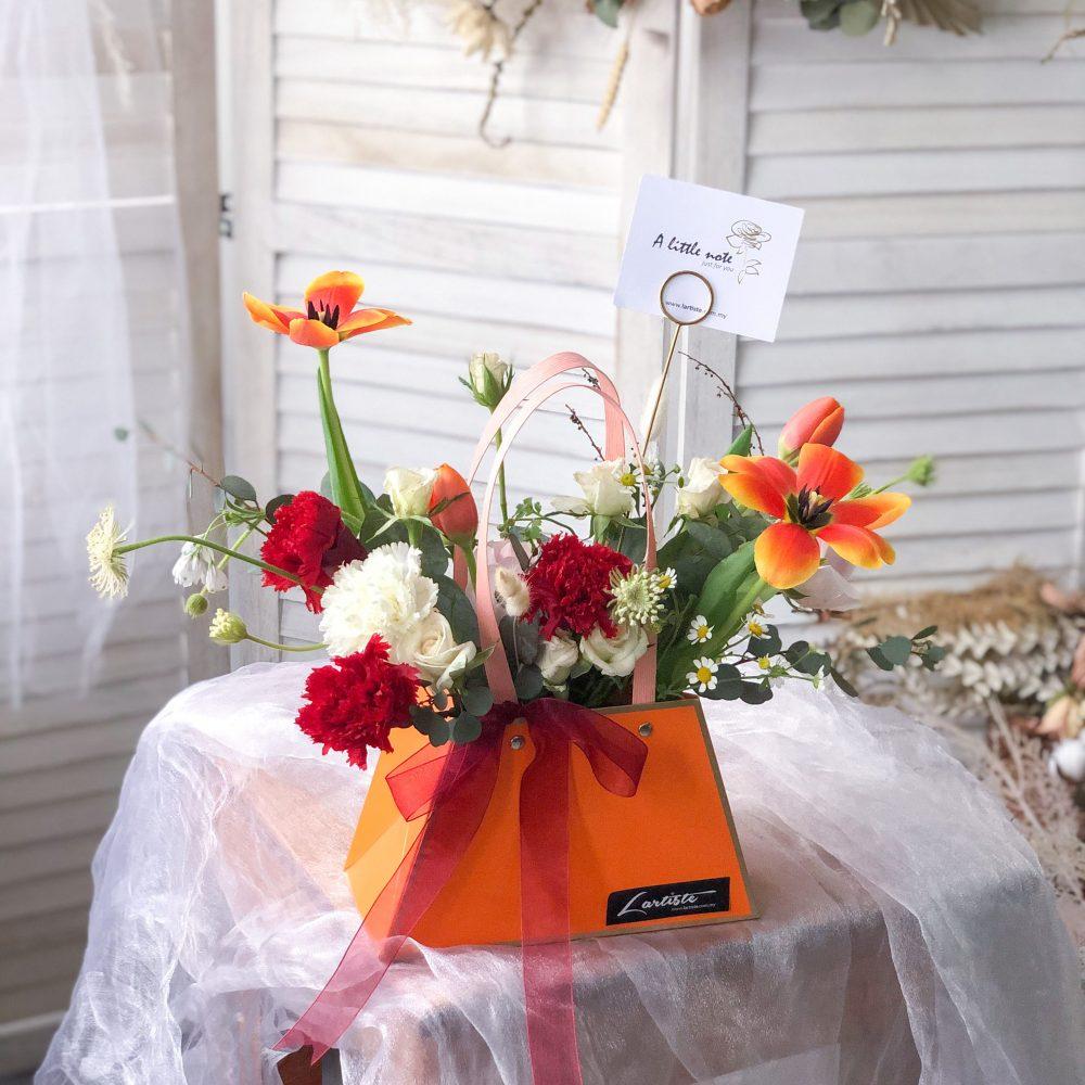 Hermes Bag Flower Box