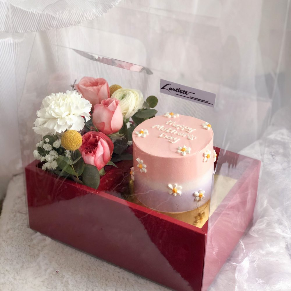 Flower Box with Cake