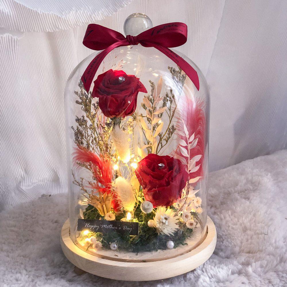 Red Flower Bell Jar