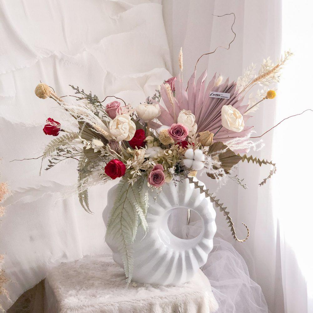 Preserved Flowers Vase