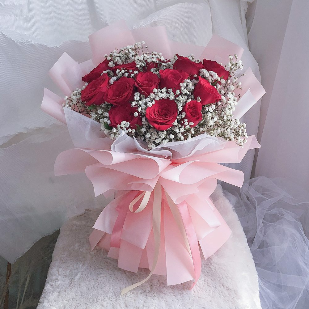 Red Roses Bouquet - 13 stalks