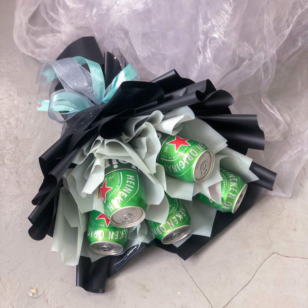 Heineken Beer Bouquet - 5 cans