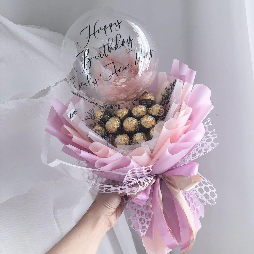 Ferrero Bouquet with Balloon
