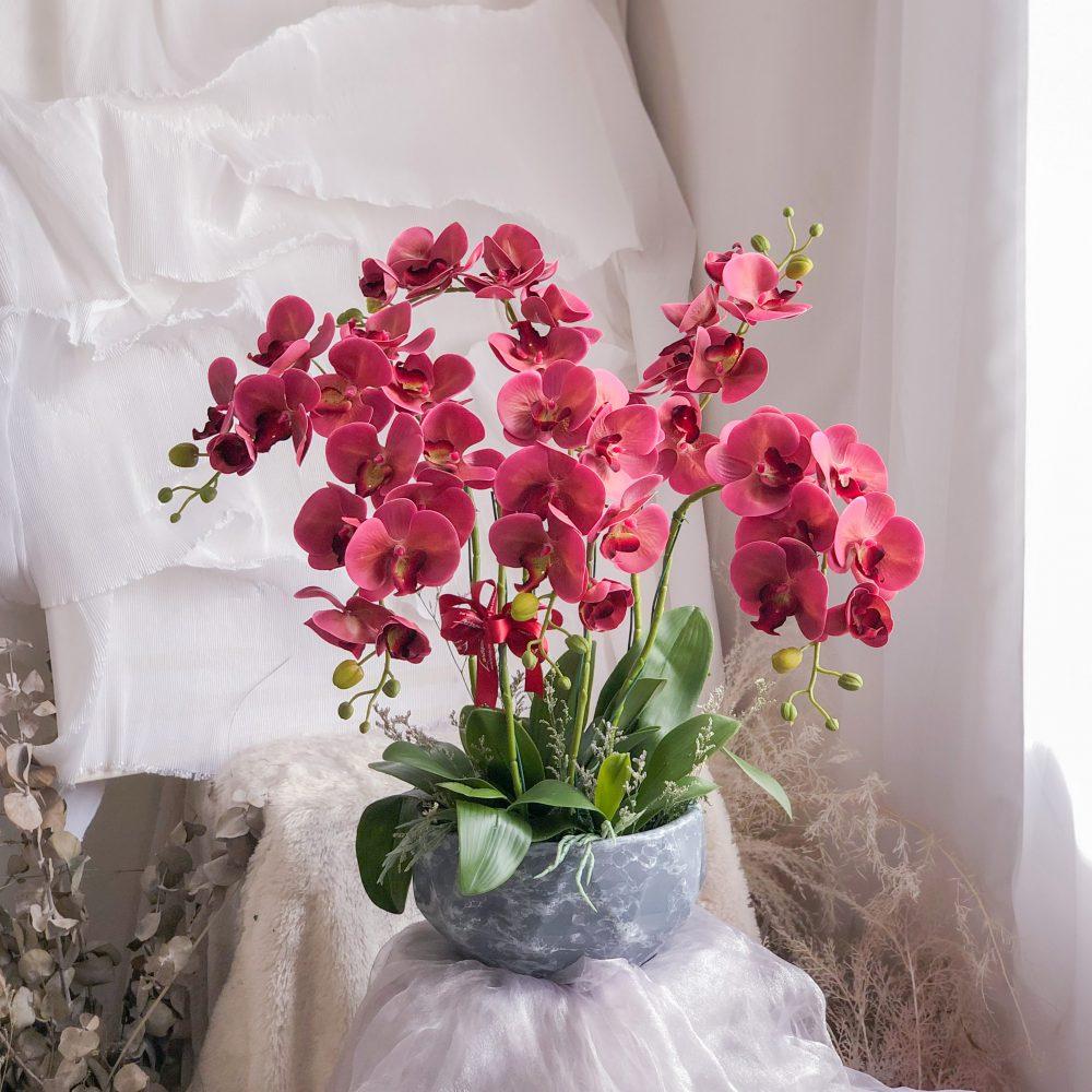 Artificial Orchid Vase 02