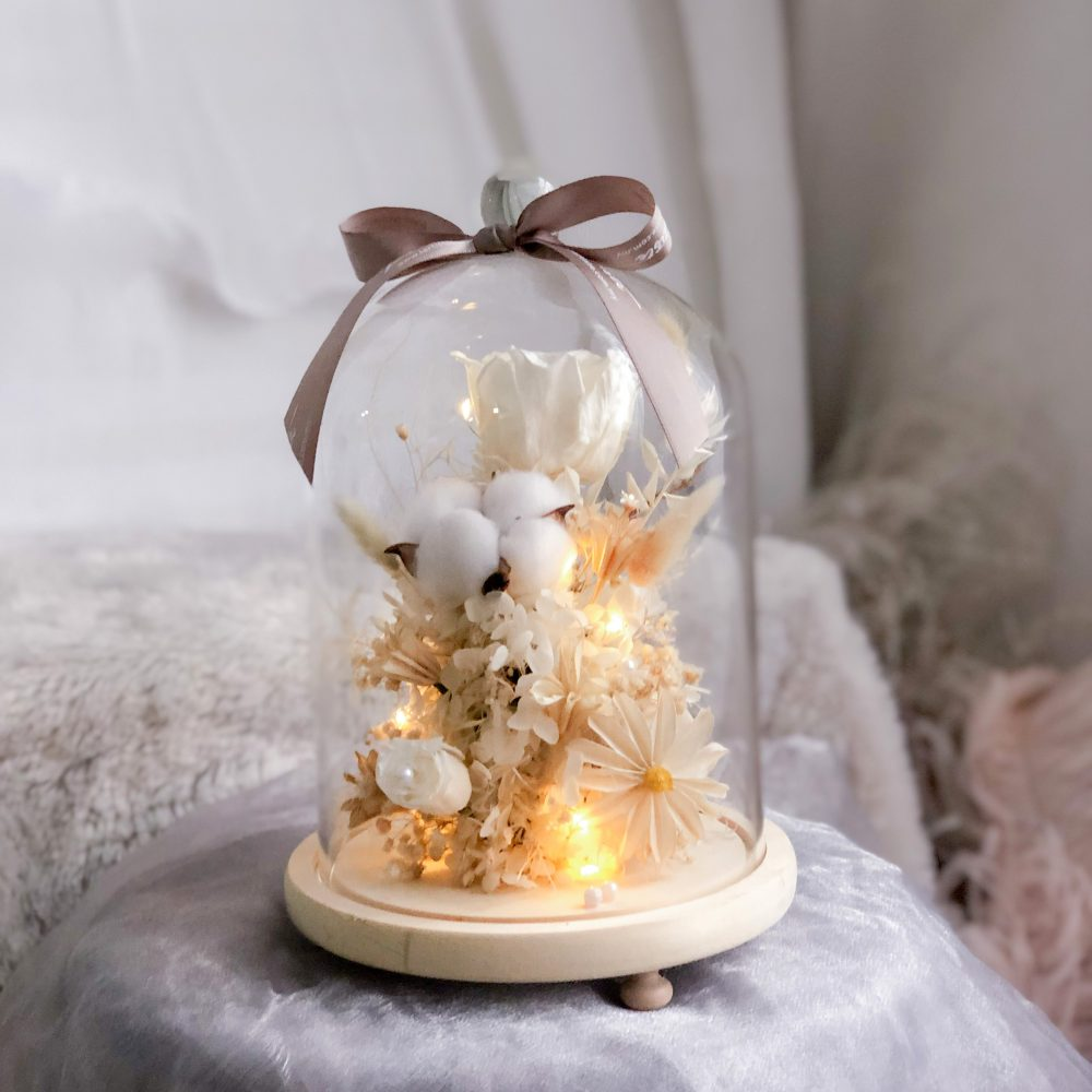 White Flower Bell Jar