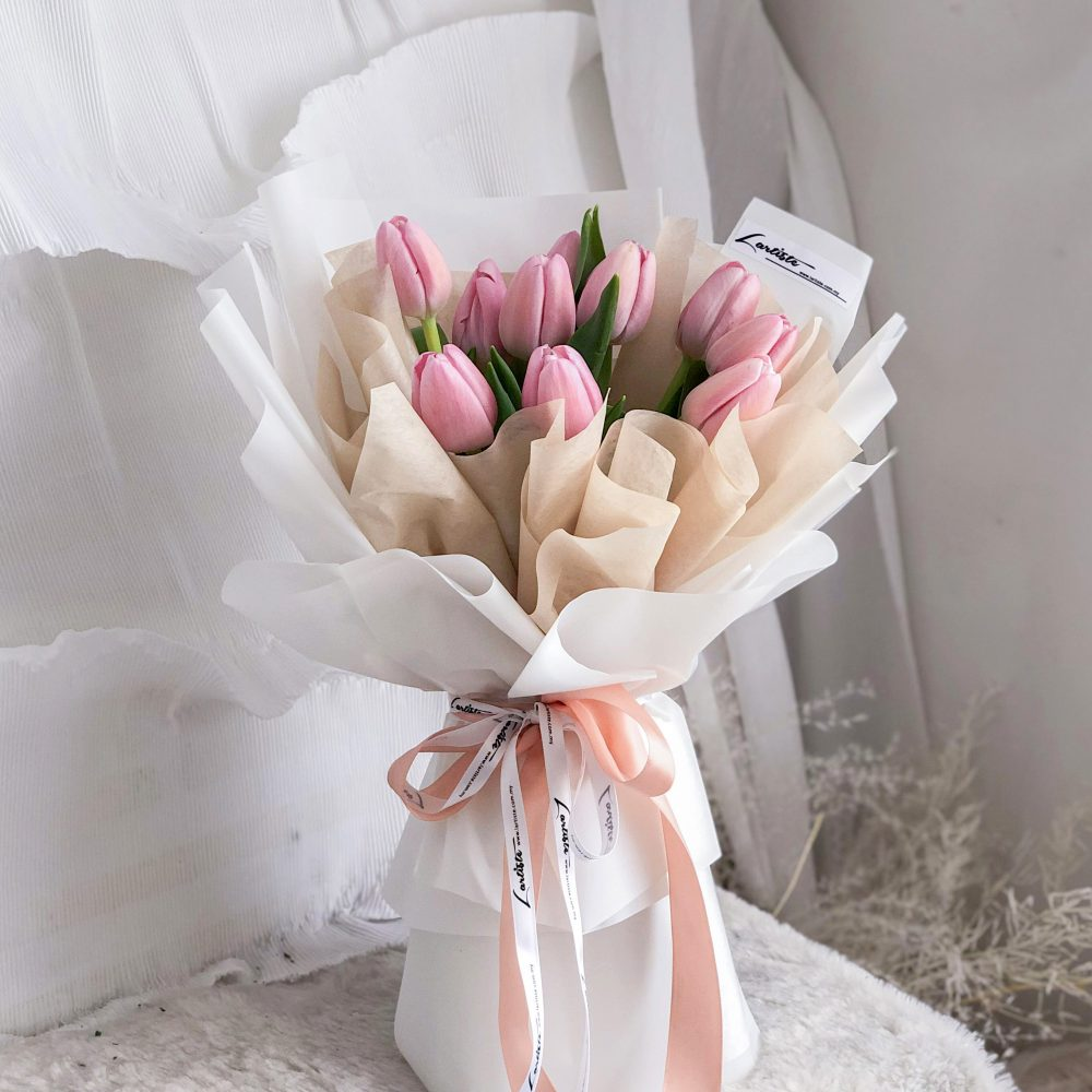 Pink Tulips Bouquet - 10 stalks